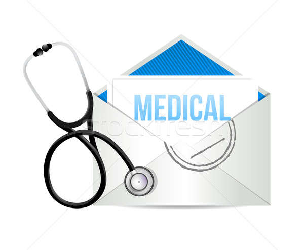 mail form a doctor with a Stethoscope illustration design over w Stock photo © alexmillos