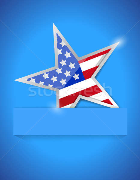 Americana star illustration design over a white background Stock photo © alexmillos
