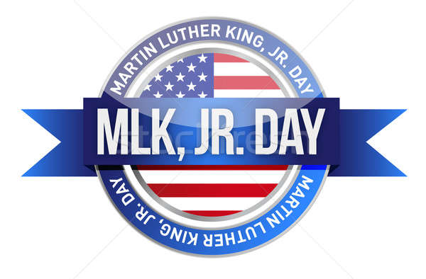 Martin Luther King Jr. us seal and banner illustration design Stock photo © alexmillos