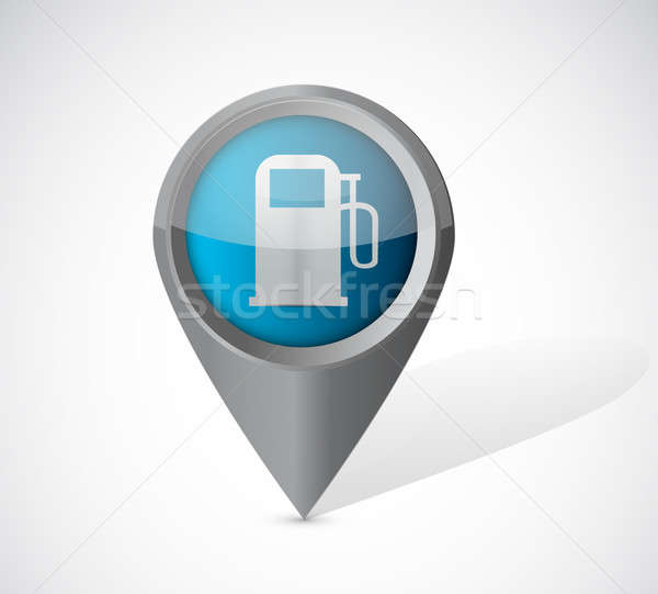 gas pump pointer illustration over a white background Stock photo © alexmillos
