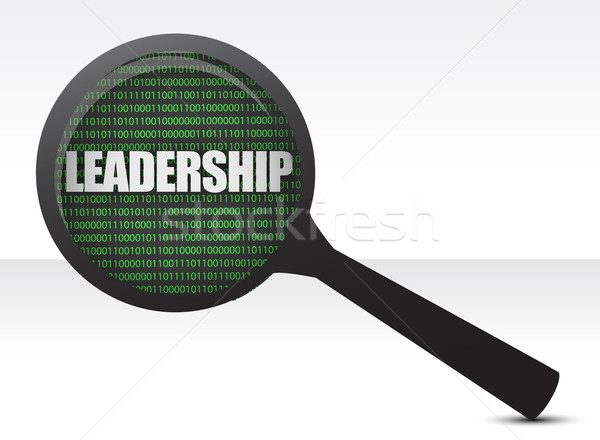 Leadership under review concept illustration design over white Stock photo © alexmillos