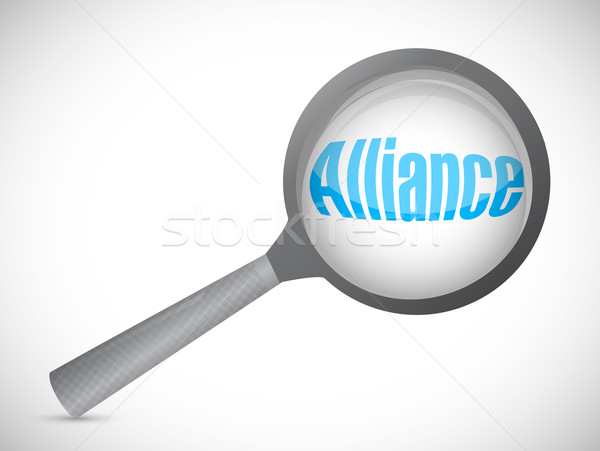 alliance illustration design over a white background Stock photo © alexmillos