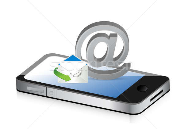 contact us smartphone illustration design concept graphic Stock photo © alexmillos