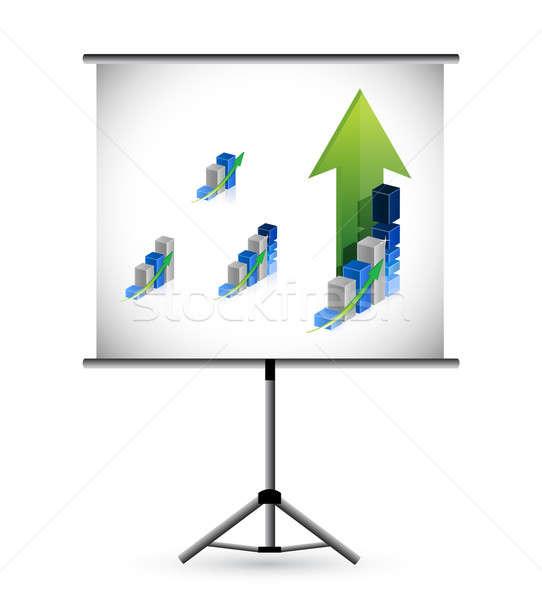 üzlet bemutató illusztráció terv fehér pénzügy Stock fotó © alexmillos