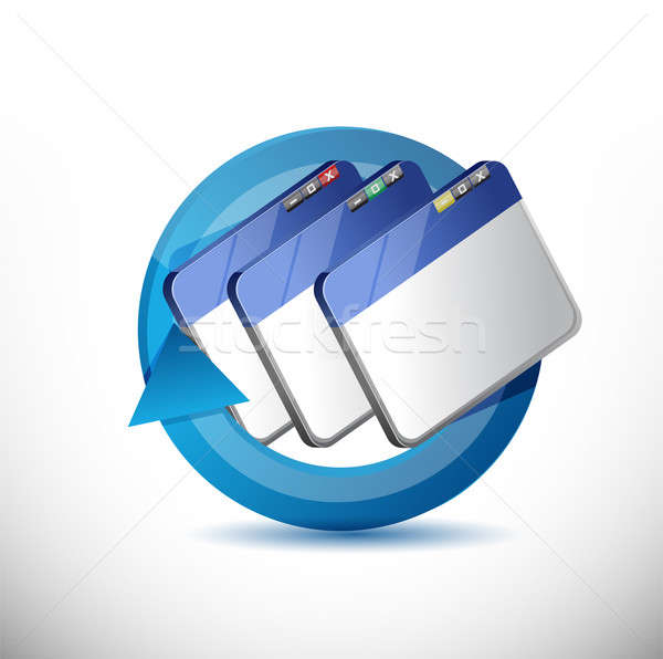 Browser cycle illustration design Stock photo © alexmillos