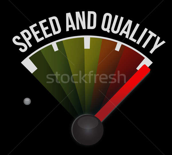 Speed and quality speedometer  Stock photo © alexmillos