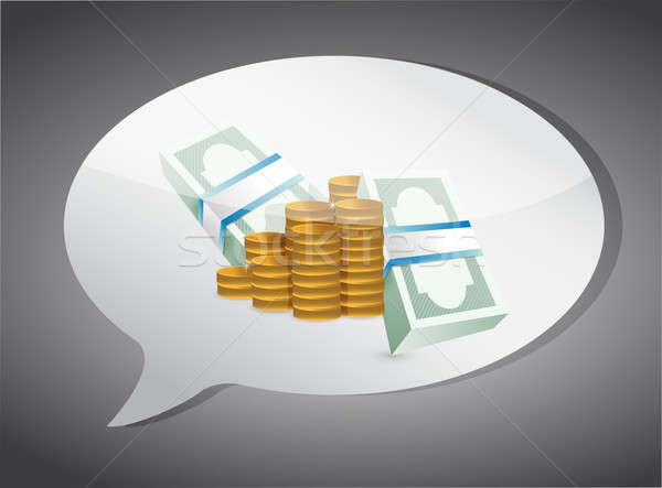 thinking in money concept illustration design over a grey backgr Stock photo © alexmillos