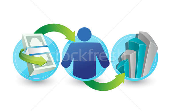 Business steps of success concept Stock photo © alexmillos
