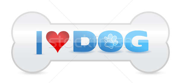 Dog Bone With Text Stock photo © alexmillos