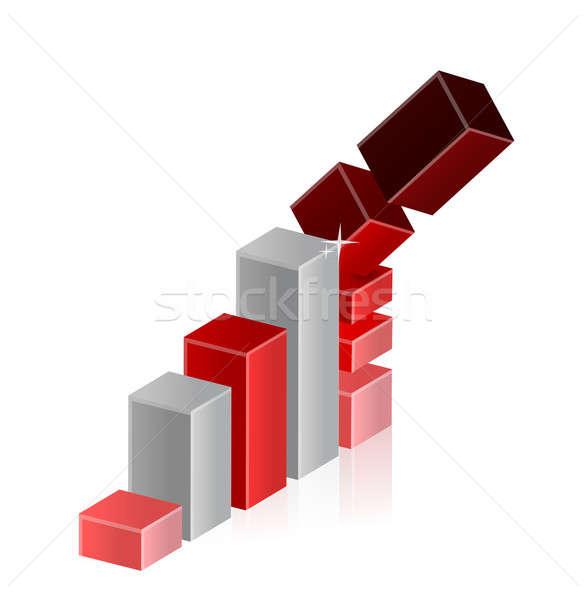 Caer crisis negocios gráfico de barras diagrama dinero Foto stock © alexmillos
