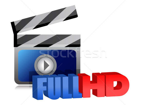 Full HD video sign illustration design  Stock photo © alexmillos