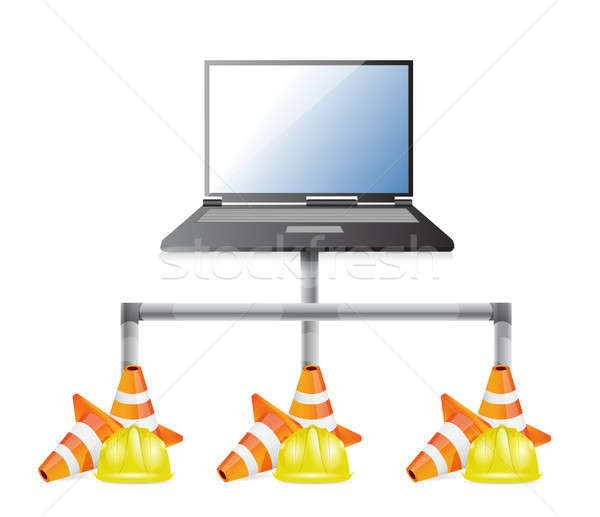 Laptop network issues illustration design Stock photo © alexmillos