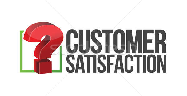 Customer satisfaction question mark unknown  Stock photo © alexmillos