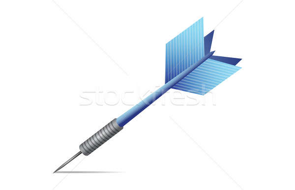 Blue dart illustration design  Stock photo © alexmillos