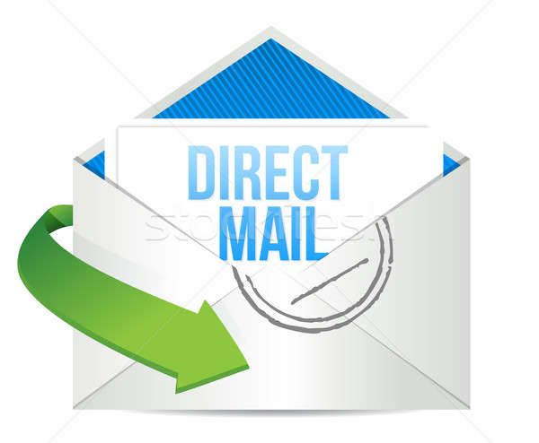 advertising Direct Mail working concept illustration design over Stock photo © alexmillos