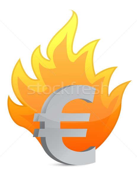 Euro crisis illustration  Stock photo © alexmillos