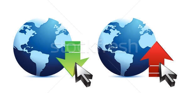 Download and upload icons Stock photo © alexmillos