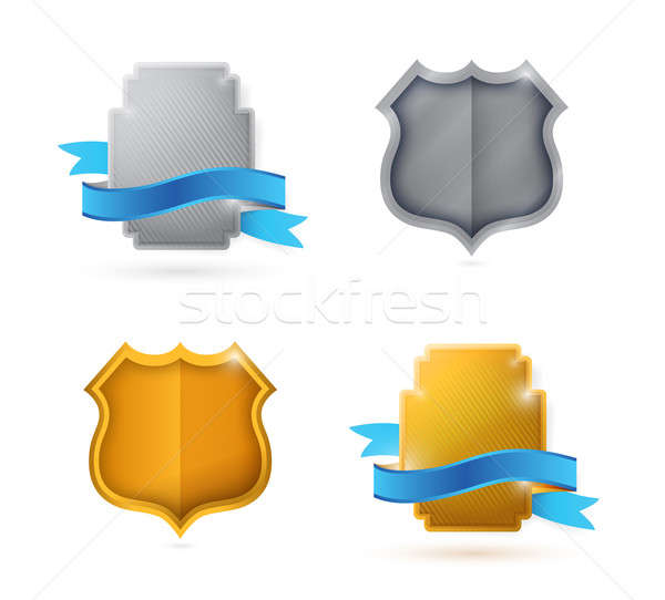 Blank. empty shield and seals for customization  Stock photo © alexmillos