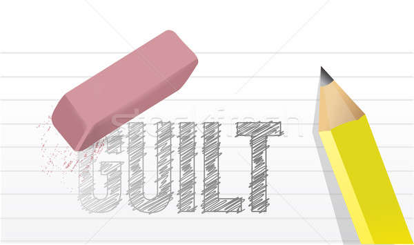 Erase guilt concept illustration design Stock photo © alexmillos