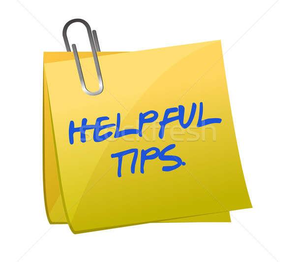 Behulpzaam tips post-it illustratie ontwerp Rood Stockfoto © alexmillos
