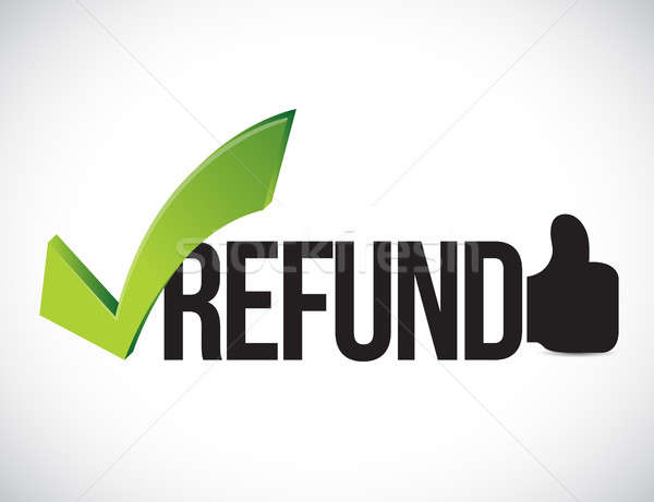 Refund approved concept illustration graphic Stock photo © alexmillos