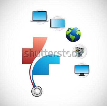 cloud medical concept. illustration design Stock photo © alexmillos