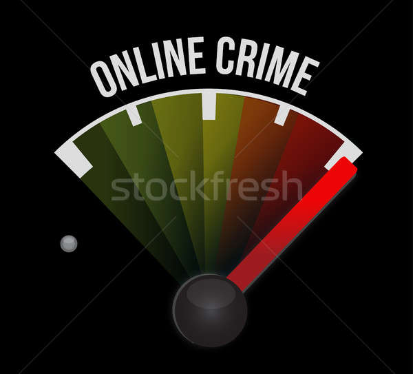 online crime speedometer sign concept Stock photo © alexmillos