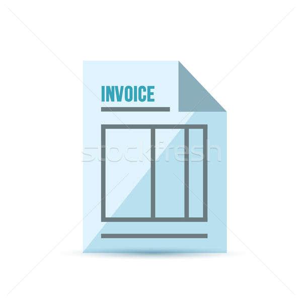 invoice form illustration design Stock photo © alexmillos