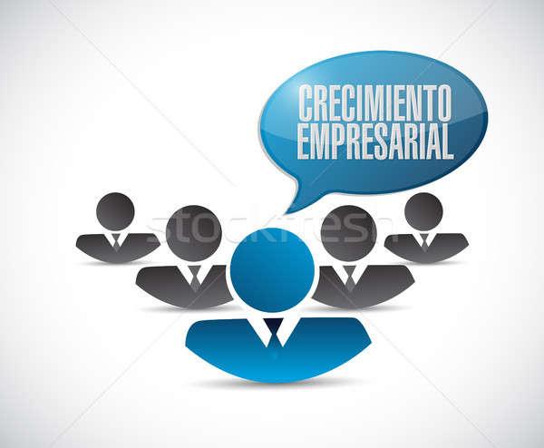 Negocios crecimiento trabajo en equipo signo espanol ilustración Foto stock © alexmillos