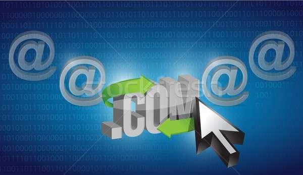 Internet selecionado azul binário ilustração projeto Foto stock © alexmillos