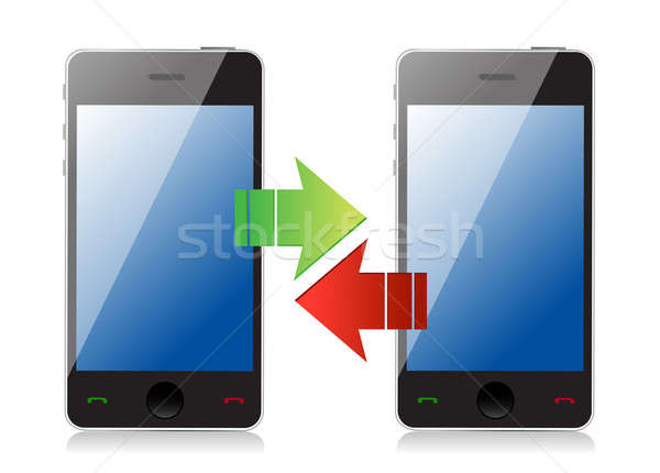 phone transferring information concept Stock photo © alexmillos