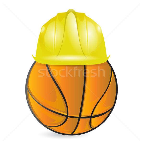 basketball training. under construction Stock photo © alexmillos