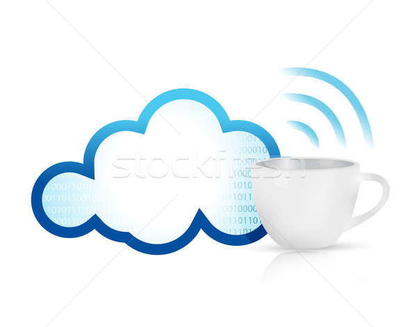 cloud computing coffee mug concept Stock photo © alexmillos