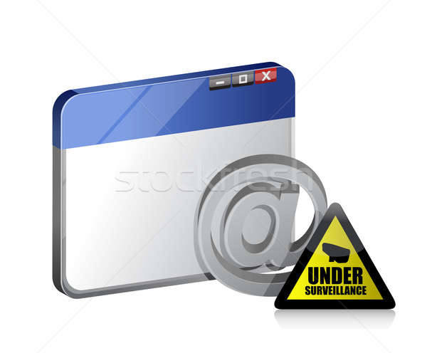 Stock photo: online browser. internet surveillance illustration