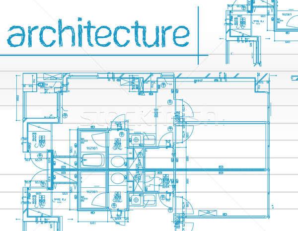 Illustrazione architettura progetti carta da lettere carta design Foto d'archivio © alexmillos