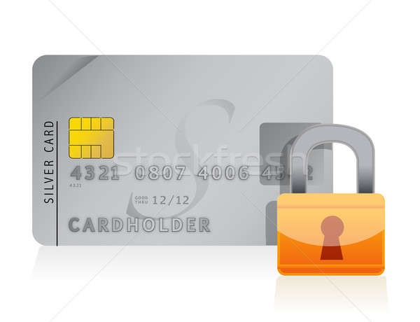 Credit card locked with security lock  Stock photo © alexmillos