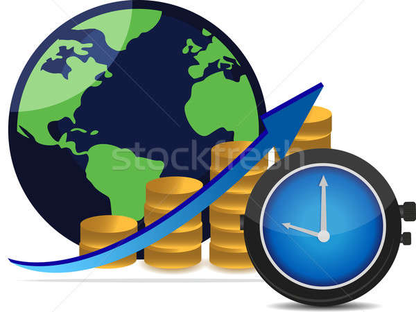 Financial success concept time is money Stock photo © alexmillos