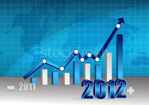 Successful 2011-2012 business graph Stock photo © alexmillos