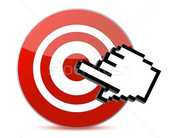 target and cursor illustration design Stock photo © alexmillos
