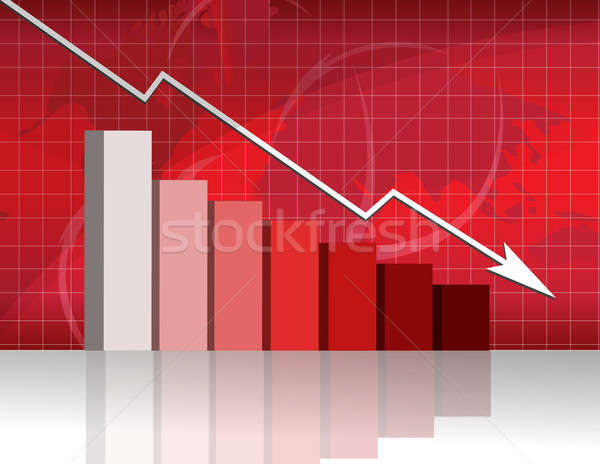Business worries with losing graph. Stock photo © alexmillos