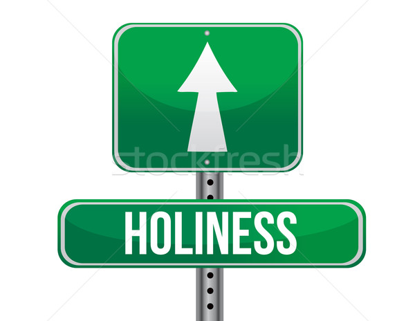holiness road sign illustration design over a white background Stock photo © alexmillos