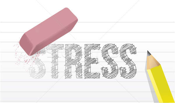 erase stress concept illustration design over a white background Stock photo © alexmillos