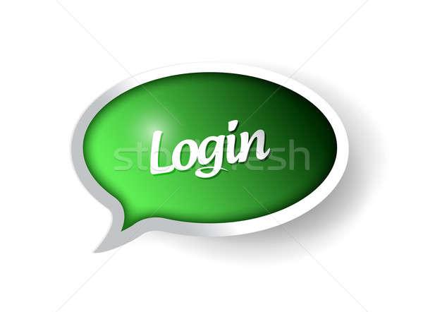 login message communication bubble illustration design graphic Stock photo © alexmillos