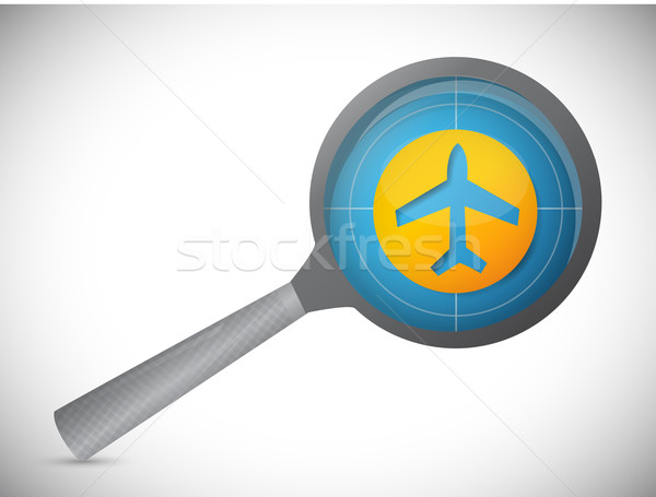fly tracker magnify illustration design over a white background Stock photo © alexmillos