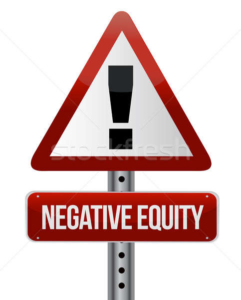 negative equity sign illustration design over white Stock photo © alexmillos