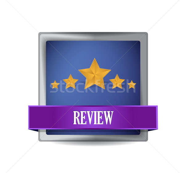 review button illustration design over a white background Stock photo © alexmillos