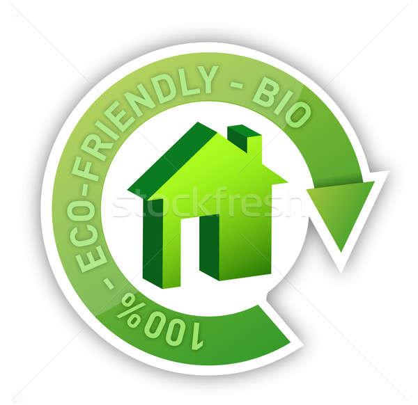 Eco maison bio accueillant maison résumé Photo stock © alexmillos
