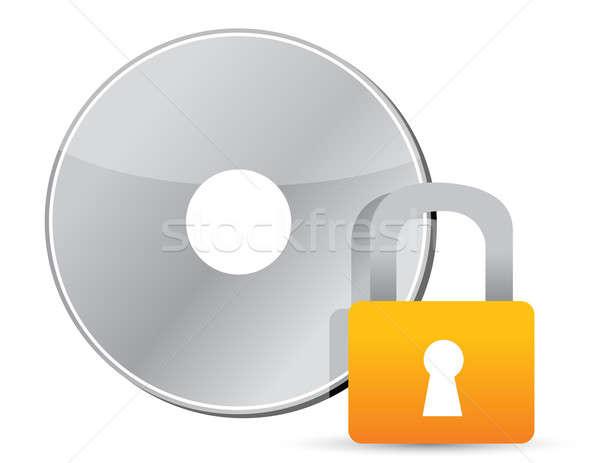 компакт-диск защищенный информации технологий программное цифровой Сток-фото © alexmillos