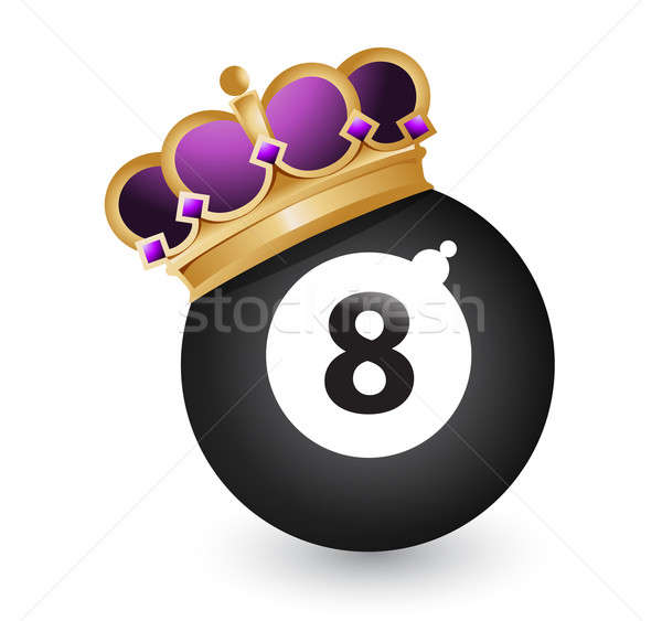 Eight ball with a crown Stock photo © alexmillos