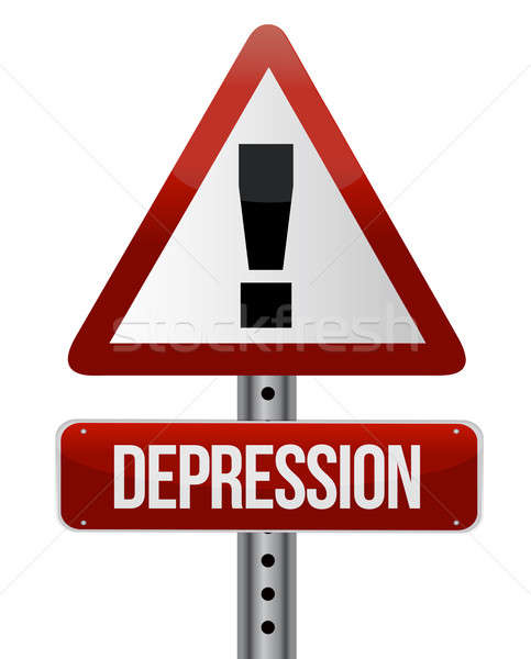 Depressie gezondheid verdriet depressief concept Stockfoto © alexmillos